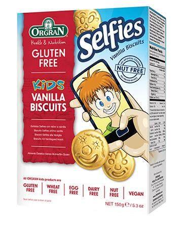 Orgran Health & Nutrition Gluten Free Kids Selfies Vanilla Biscuits 150g