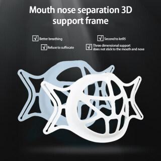 1 5Pcs Resuable 3D Mặt Nạ Chủ Sở Hữu Khung [Người Bán Chạy Nhất] Mặt Nạ Có Thể Giặt Thoải Mái Dễ Thở Bảo Vệ Silicon Tpe Vệ Sinh Chống Gió Hỗ Trợ Bên Trong Sức Khỏe [Giao Hàng Trong Vòng 24 Giờ] thumbnail
