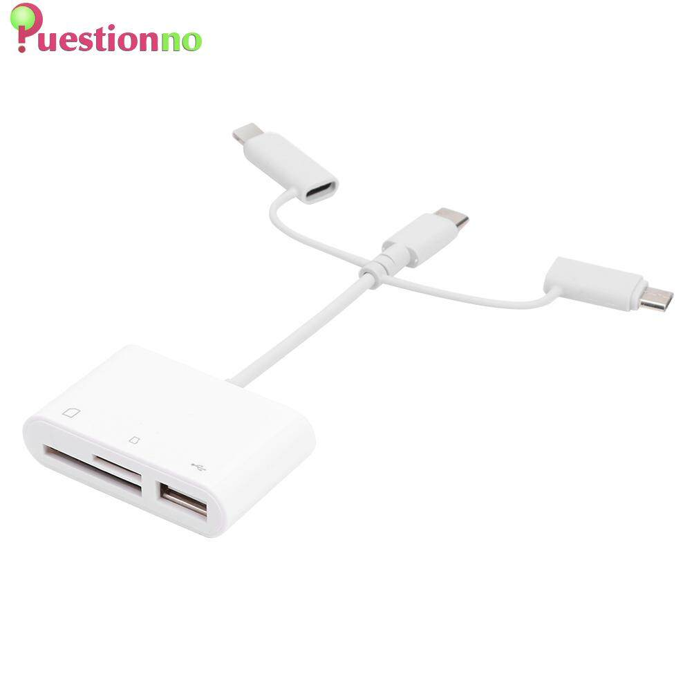 3 in 1 8 Pin to TF/Memory Card/USB2.0 Camera Connection Data Sync Cable