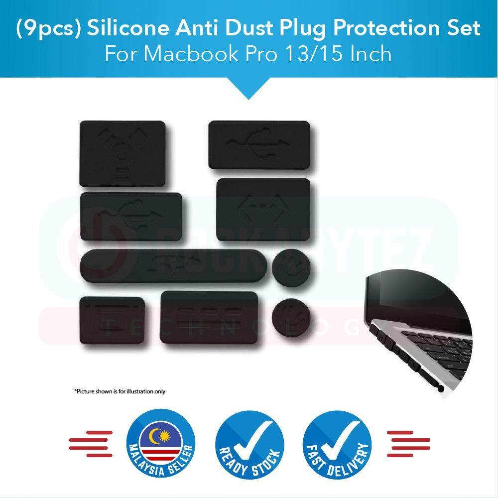 (9 Pcs)silicone Anti Dust Plug Set For Apple Macbook Pro 13 Inch By Rockabytez Technology.