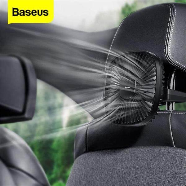Baseus Car Fan Magnetic Fan Car Cooler Silent Wireless Charging USB Fan 2 Speed ​​Adjustable Universal Car Backseat Auto Cooling