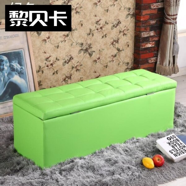 Storage Chair Multi-functional Storage Stool 45cm High Extra-large Footstool Finishing Box Commercial Use Shoes Northern Europe Leather Sofa Stool