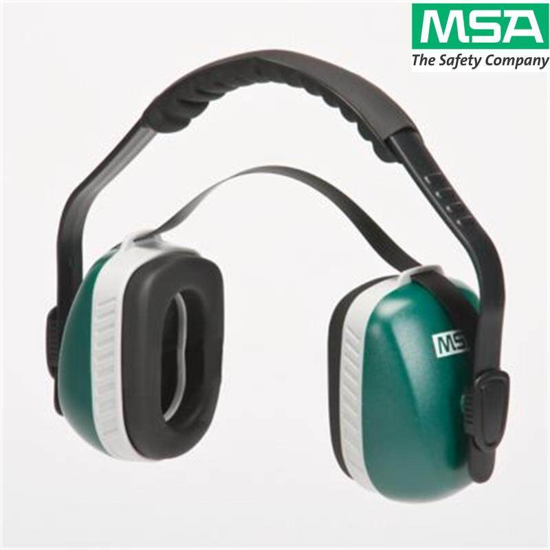 MSA Ear Protection, Multiposition Economuff Earmuff (23 dBA, under chin/behind head and 24 dBA over the head)