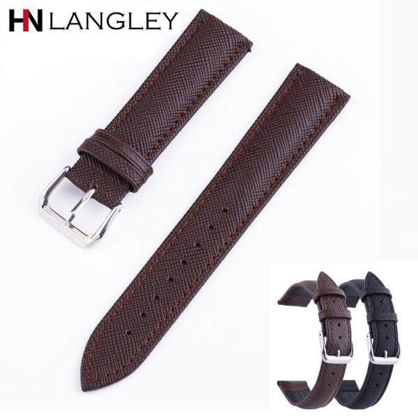 Genuine Cowhide Leather Watch Band 12/14/16/18/20/22/24mm width Mens Watch Strap Business Watchband Malaysia