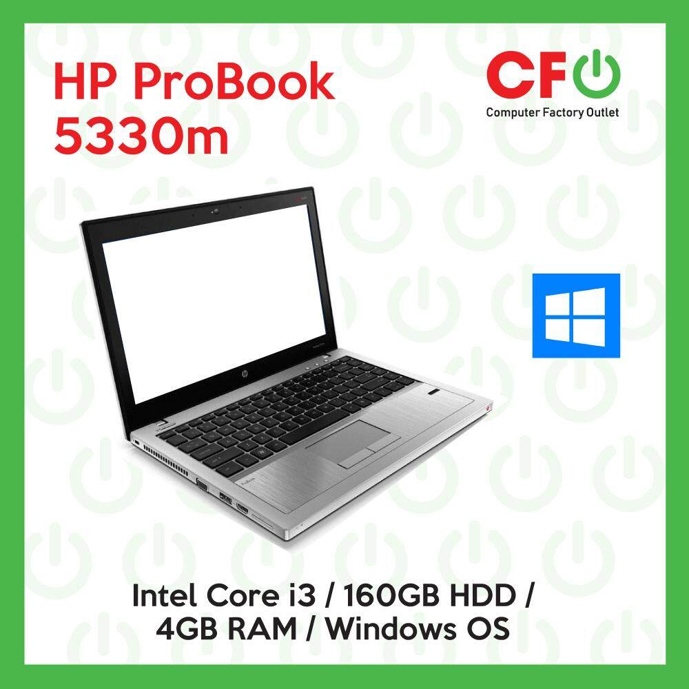 HP ProBook 5330m / Intel Core i3 / 4GB RAM / 160GB HDD / Windows OS Laptop / 1 Month Warranty (Factory Refurbished) Malaysia