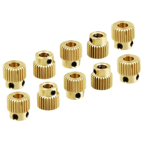 Bảng giá 10 Pcs for Makerbot Or 1.75mm Consumable 26 Tooth Brass Extruder Feed Gear Phong Vũ