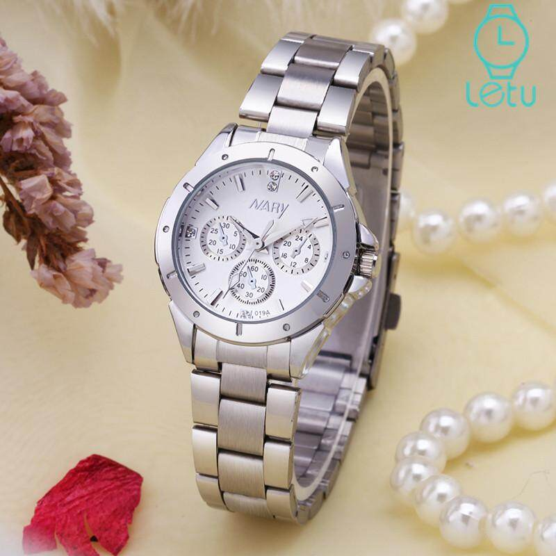 NARY 128 Business Fashion Wristwatch For Women Hot Sale Casual Classic Waterproof Stainless Steel Strap Quartz Ladies Watch Malaysia