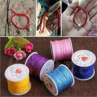 1 Piece 0.8mm 45M/Roll Nylon Cord Thread Chinese Knot Macrame Rattail Bracelet Braided String DIY Accessories