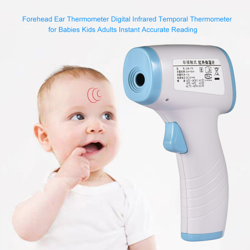 Infrared Thermometer Omron Forehead Ear  Digital Infrared Temporal Thermometer for Babies Kids Adults Instant Accurate Reading