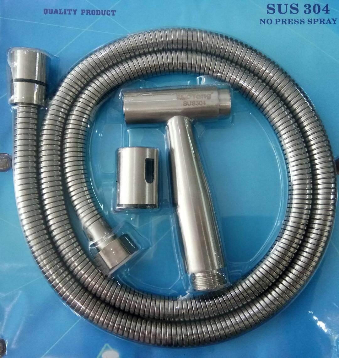 SUS 304 Stainless Steel Hand Bidet Toilet Spray No Press Spray