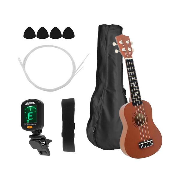 21 Inch Colored Acoustic Soprano Ukulele Ukelele Uke Kit Basswood with Carry Bag Uke Strap Strings Picks Tuner Malaysia