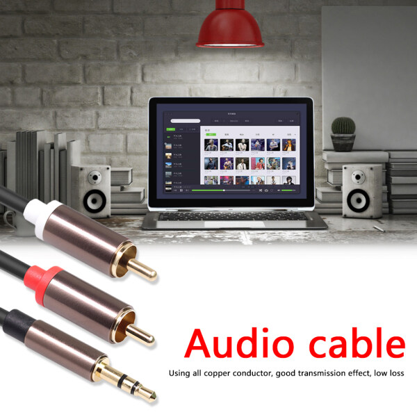 3.5 mm Jack to 2 RCA Audio Cable 1/8 inch Male to 2RCA Male Splitter Cord for DVD Speaker Singapore