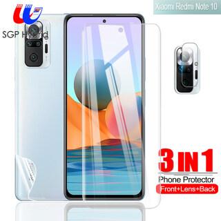 SGP Lai [Dành Cho Xiaomi Redmi Note 10 6.43 ] 3in1 Dành Cho Redmi Note 10 9 S Pro 9T 8 7 Pro Redmi 9T 9A 9C 9 8 7 XIAOMI MI 10T PRO POCO Miếng Dán Màn Hình Kính Cường Lực Phủ Đầy Đủ NFC M3 X3 Và Miếng Dán Mặt Sau Hydrogel Và Ống Kính thumbnail
