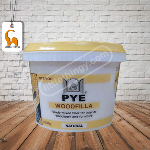 0.5Kg PYE WoodFilla (Natural) Fast Drying Ready Mixed Wood Filler Repair Crack For Wood Surface Cabinet Furniture LittleThingy