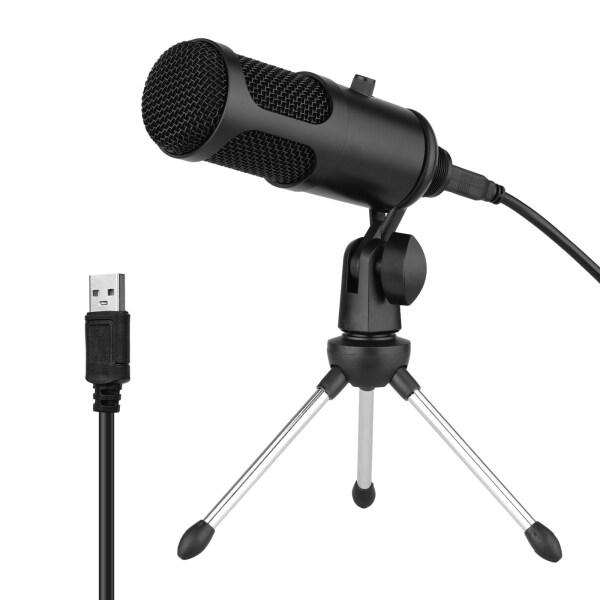 Bộ Micro Điện Dung USB Hệ Thống Micro Chuyên Nghiệp Với Giá Ba Chân Mic Có Thể Gập Lại Dây Nguồn USB Để Ghi Âm Nhạc Cụ Trò Chuyện Bằng Giọng Nói Phát Trực Tiếp Chơi