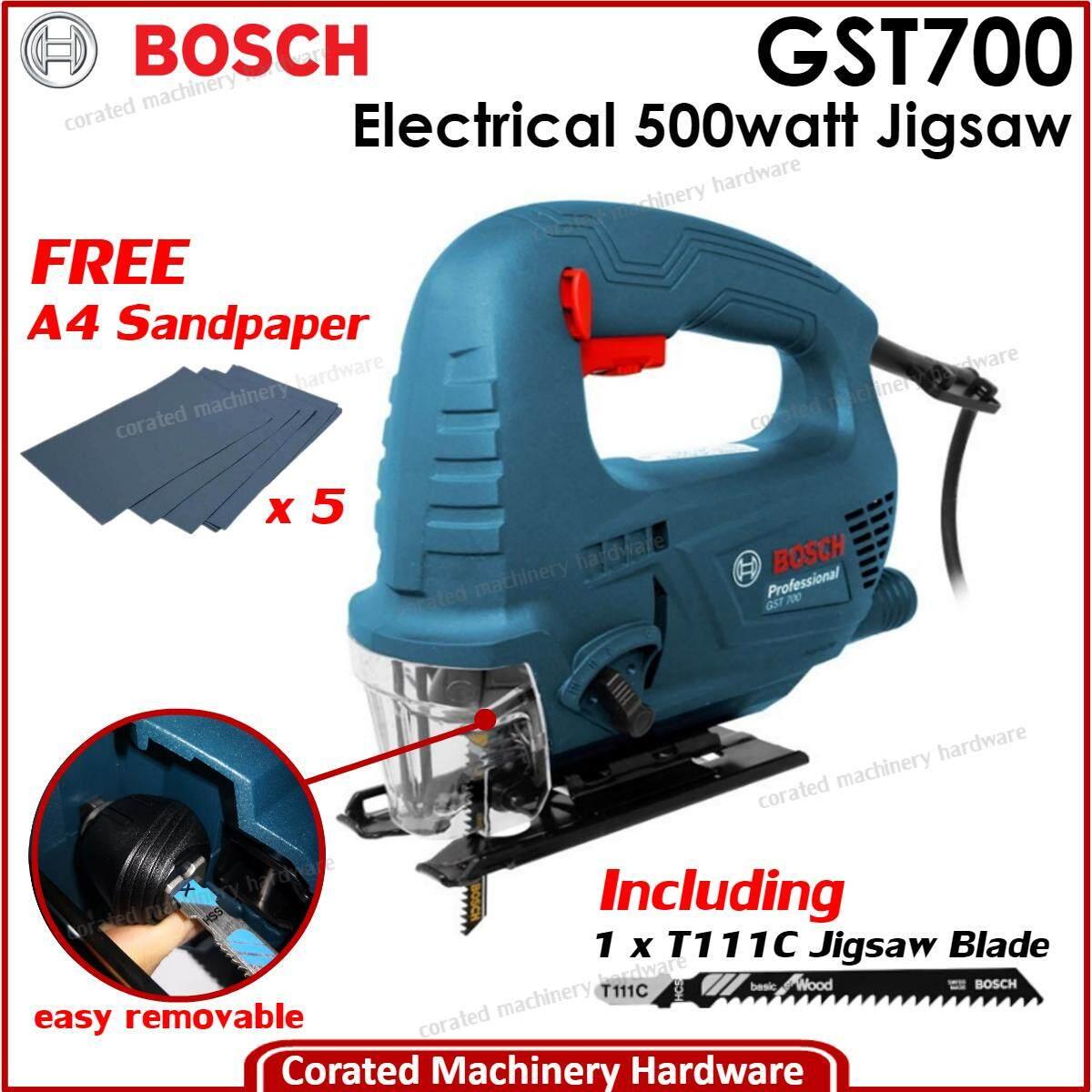 [corated] Bosch Gst 700 Jigsaw 500 Watt (6 Months Warranty) Gst700 By Corated Enterprises (m) Sdn Bhd.