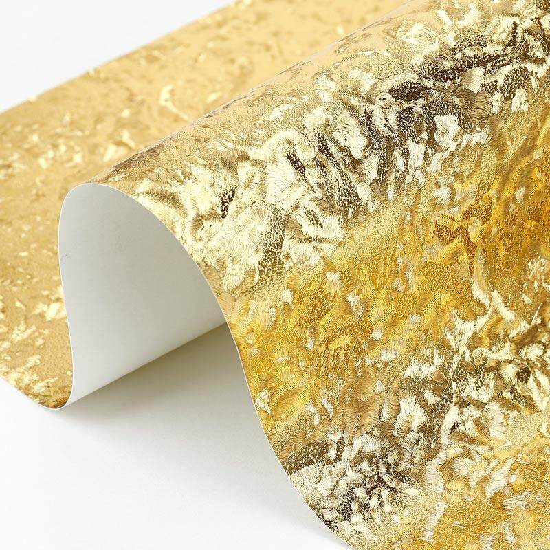 10m Modern chunky glitter wallpaper rolls Gold Foil wall paper light Reflection silver wallpapers for living room papel de parede