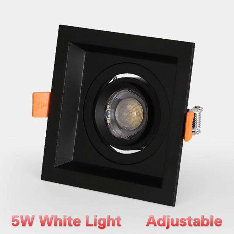 LED Single Head / Double Head Zoom Spotlight 5W/10W Recessed Ceiling Light Square / Rectangular Downlight