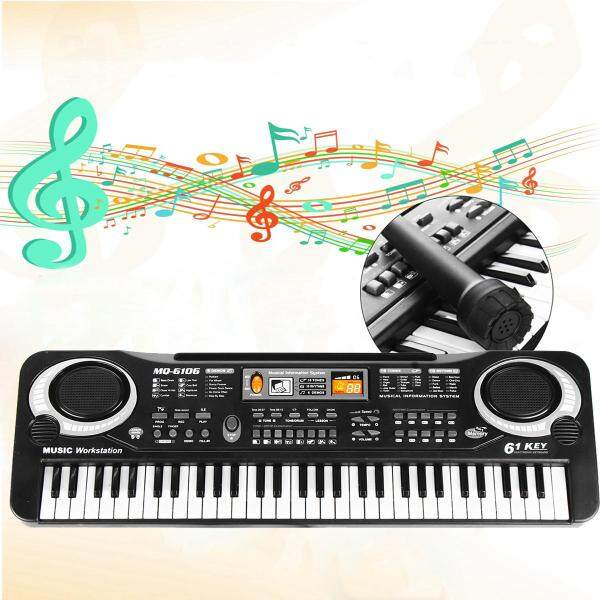 Bàn Phím Điện Nhạc 61 Phím Đàn Organ Điện Tử Kỹ Thuật Số Với Microphone
