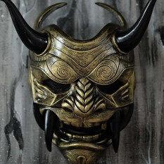 Mặt Nạ Sát Thủ Nhật Bản Halloween Đáng Sợ Mặt Nạ Latex Đạo Cụ Cho Tiệc Hóa Trang MJ