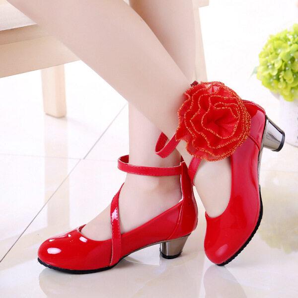 Giá bán Trẻ Em Giày 2020 Phong Cách Mới Girl Của Giày Màu Nude Giày Da Trẻ Em Cậu Bé Lớn Sinh Viên Girl Của Giày Cao Gót Giày Công Chúa
