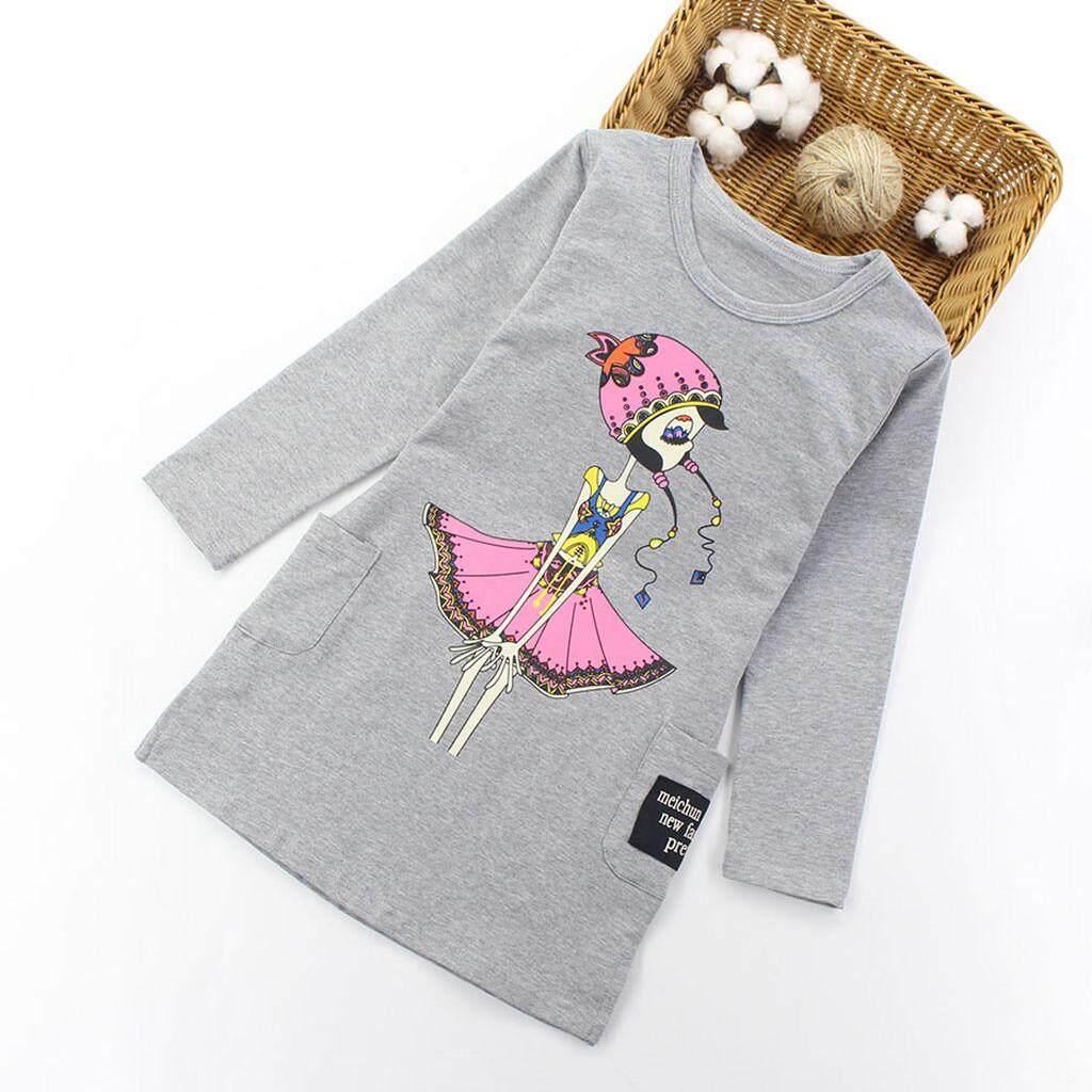 37d69bf4a7 Myapple Teenage Toddler Infant Baby Kids Cartoon Girls Print Princess  Dresses Outfits