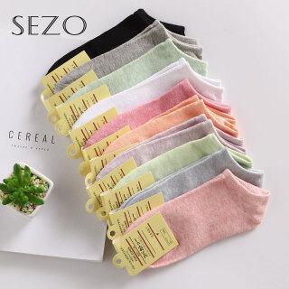SEZO Tất Ngắn Cotton Thường Ngày Cho Nữ ( 10 Màu ) thumbnail