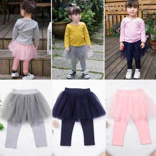 f5886bf9b6b1 Kids Baby Girl Princess Lace Tulle Skirt Pants Culotte Pantskirt Legging  Clothes