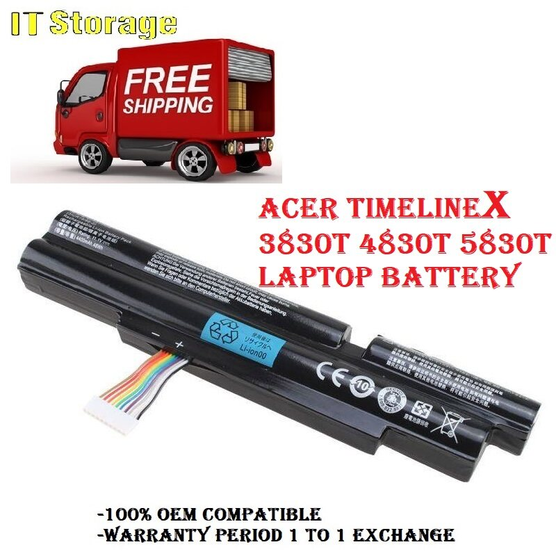 [ FREE SHIPPING ] ACER AS11A3E / 3830T 4830T 5830T SERIES LAPTOP BATTERY Malaysia
