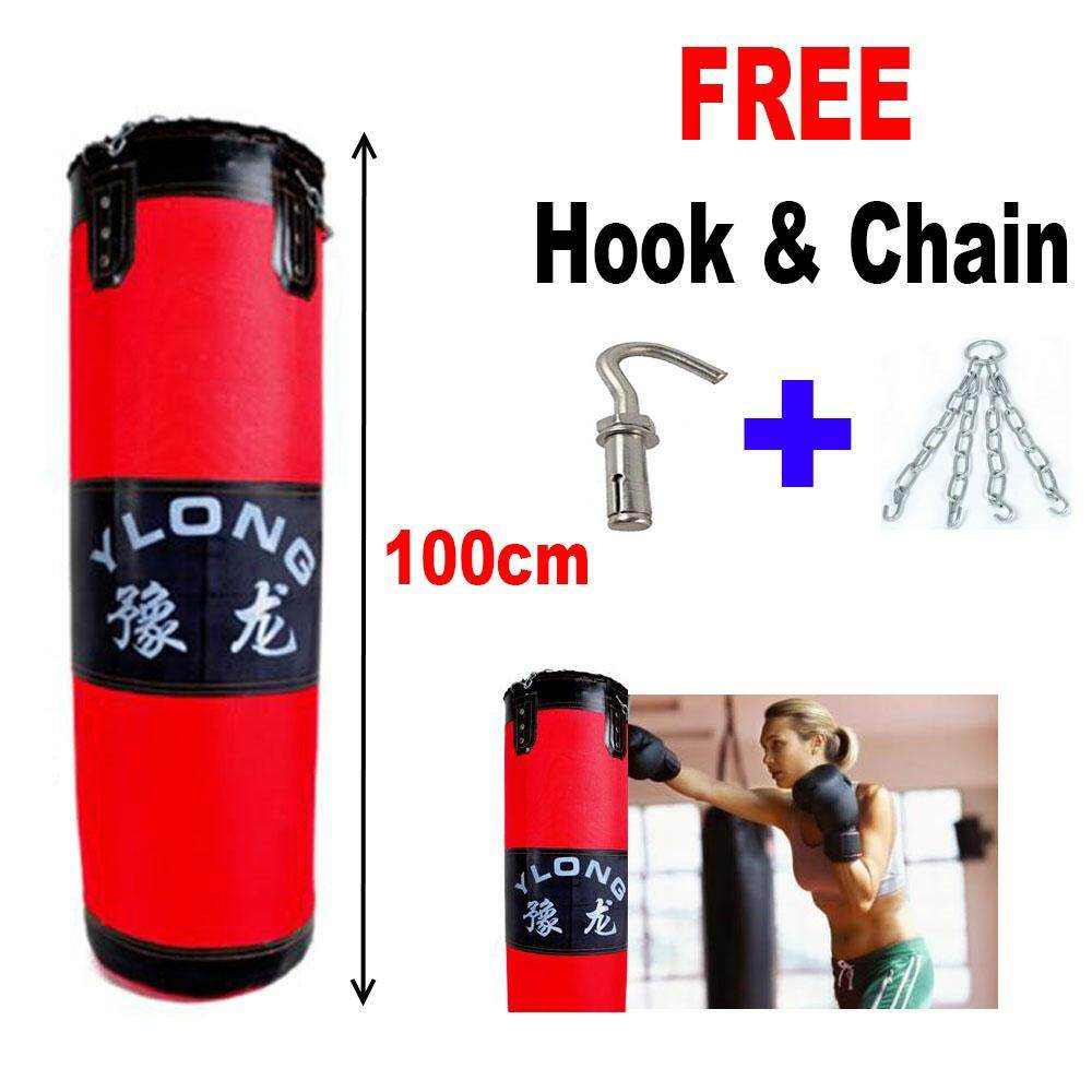 SellinCost 100cm Kick Boxing Thick Punching Bag MMA Martial Art Kung Fu Muay Thai Unfilled Bag