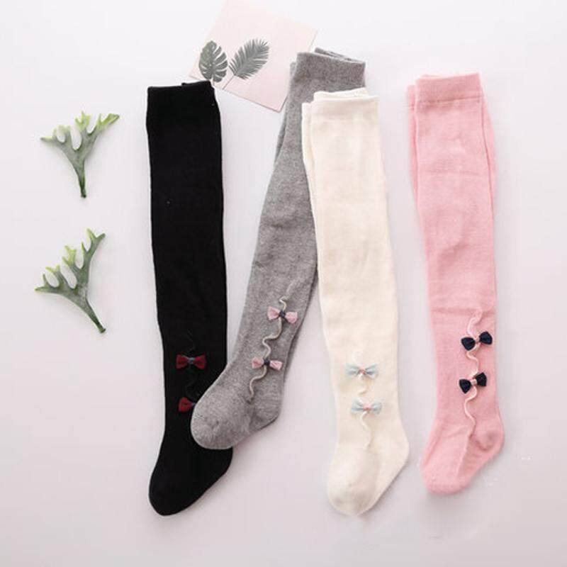 f75c76300a9b3 Newborn Kid Baby Girls Stockings Warm Knit Toddler Kids Pure Cotton Winter  Bow-knot Tights