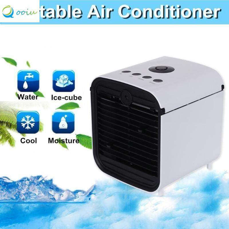 Qooiu 5V 1.5A Summer Cool Office Bedroom Mini Air Conditioning Three Speed ​​Wind Control Cooler Air Humidification Tool Air Filter Purifier