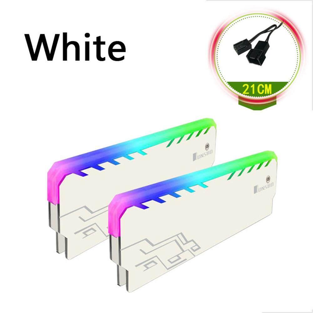 RGB DDR Memory RAM Cooler Heat Sink Cooling Vest Fin Radiation Dissipate