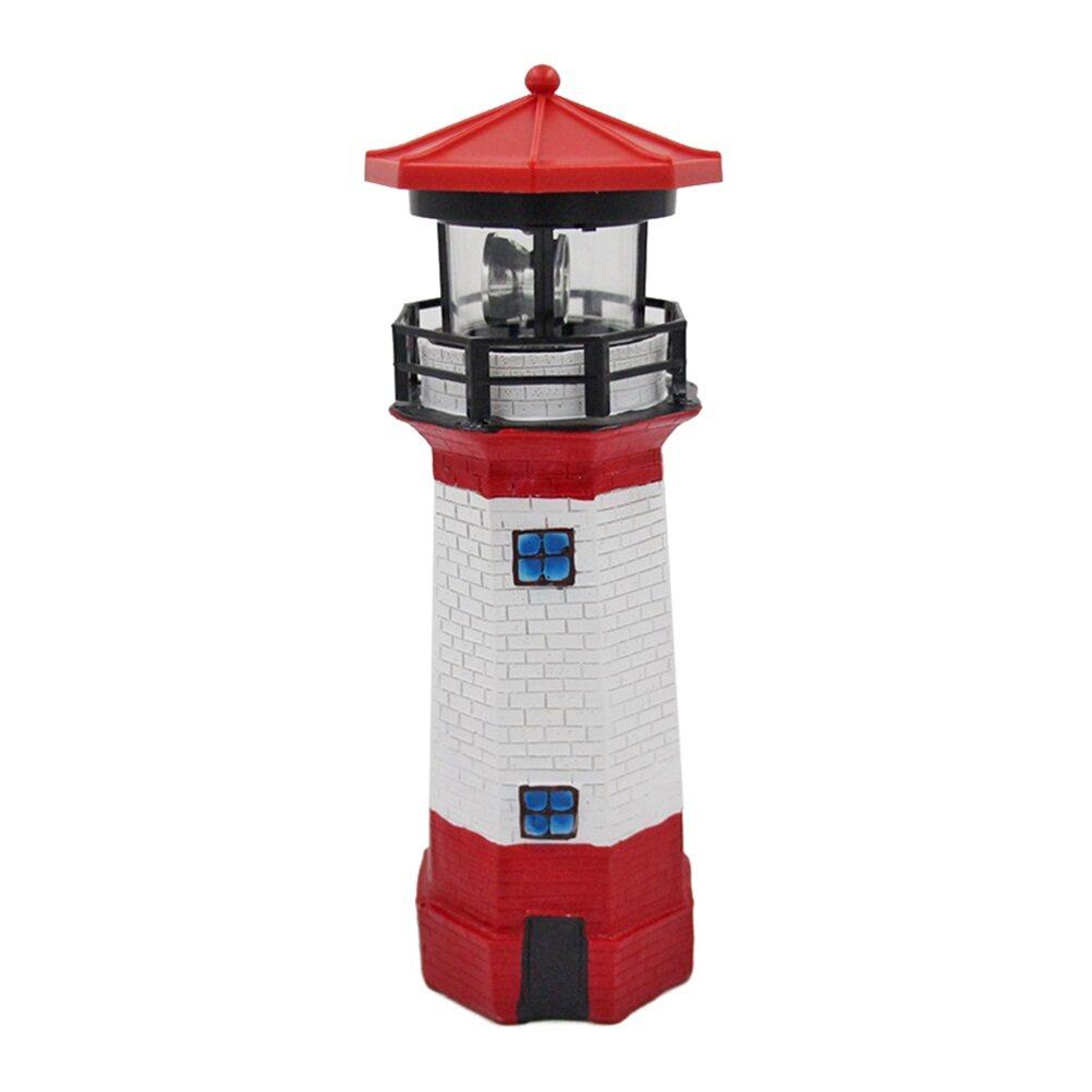 Đèn LED Hình Ngọn Hải Đăng Xoay Ánh Sáng Cảnh Quan Ngoài Trời Không Thấm Nước Ánh Sáng Năng Lượng Mặt Trời Ánh Sáng, Trang Trí Đèn, Đồ Trang Trí Cho Sân Vườn