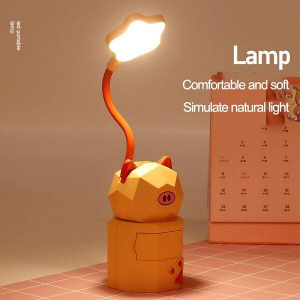 Bảng giá Đèn LED Để Bàn Ống Silicon Sạc USB Di Động Với Hộp Trang Sức