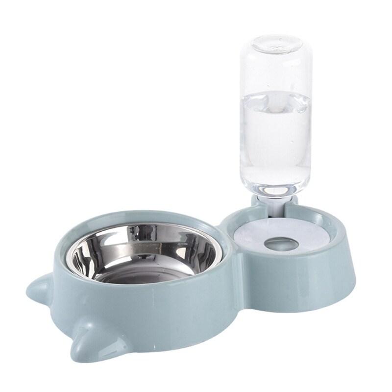 Pet Cat Dog Thức ăn khô và nước uống tự động cho ăn Bát đôI