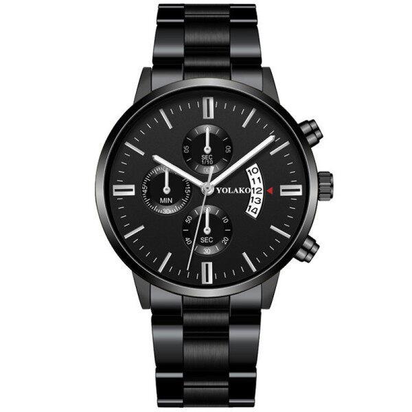 Fashion Mens Watches YOLAKO Top Luxury Brand Watches Men Automatic Date Calendar Quartz Wrist Watches For Men Sports Waterproof Watch Malaysia