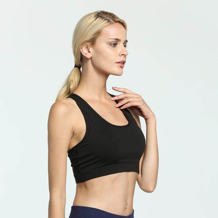 Crazy Deal Wanita Dampak Tinggi Saku Belakang Bra Olahraga Lari Padded Yoga Bra Pembalap By Pinksoft.