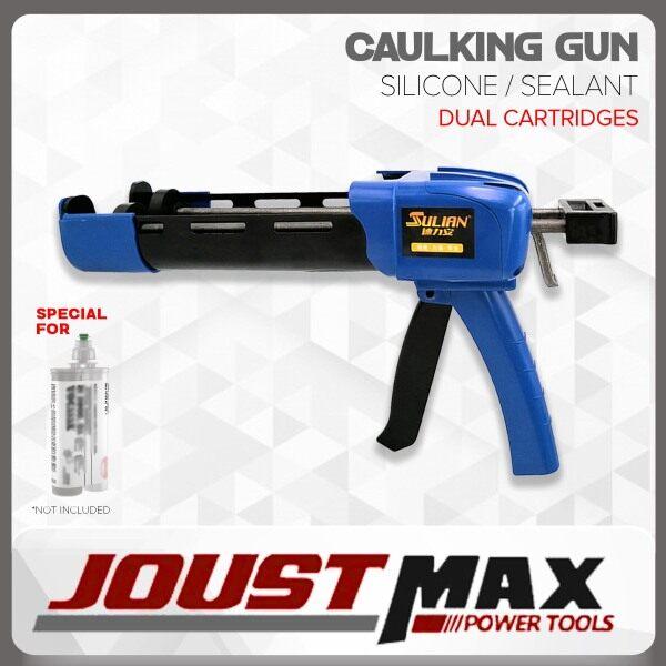 CAULKING GUN DOUBLE CARTRIDGES SILICONE SEALANT DUAL COMPONENT HIGH STRENGTH MANUAL