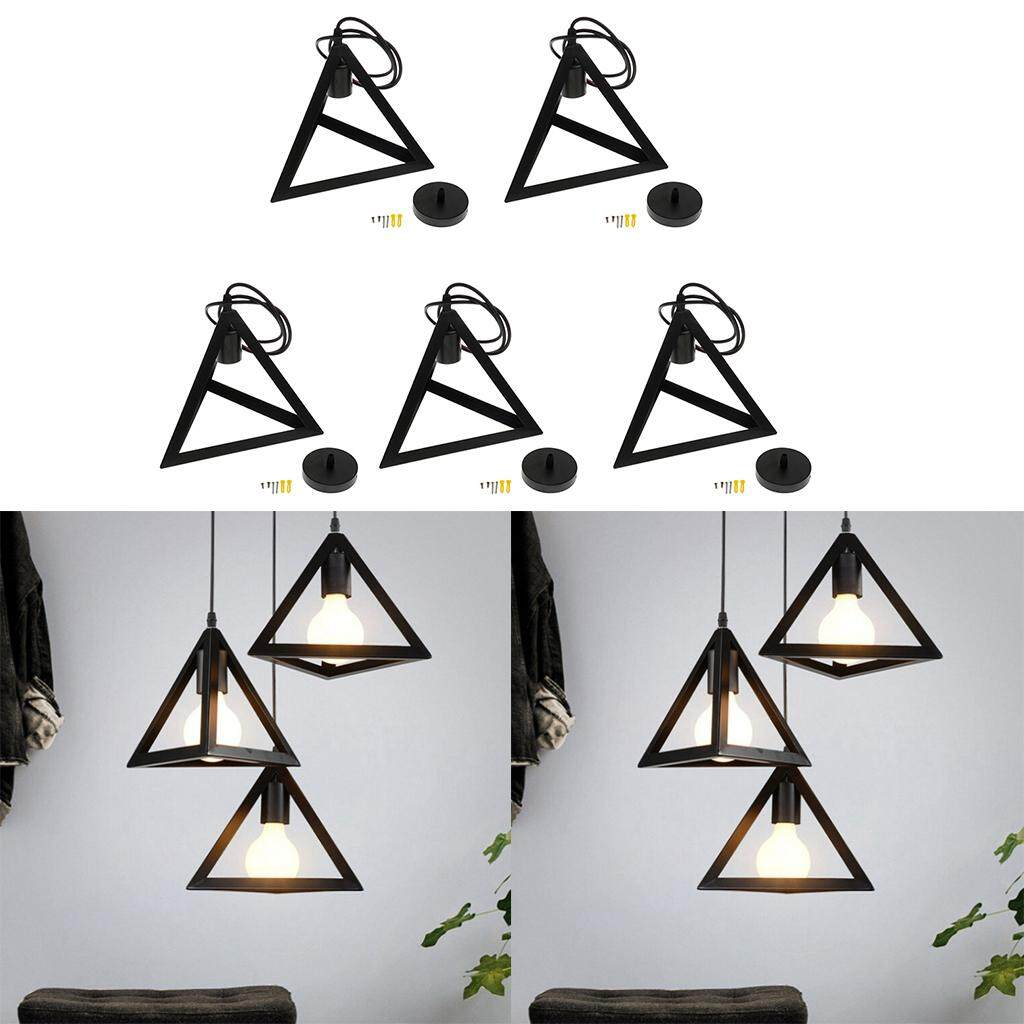 Perfk 5 Industrial Style Chandelier Lampshade Iron Ceiling Pendant Light Shade