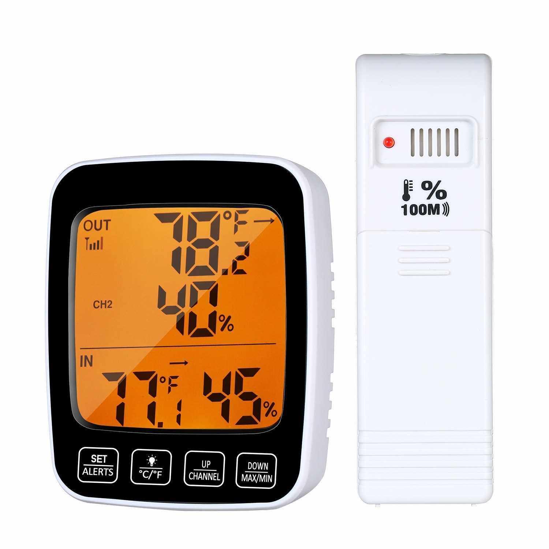 LCD Temperature Humidity Meter Weather Indoor Hygrometer Tester Backlight Clock