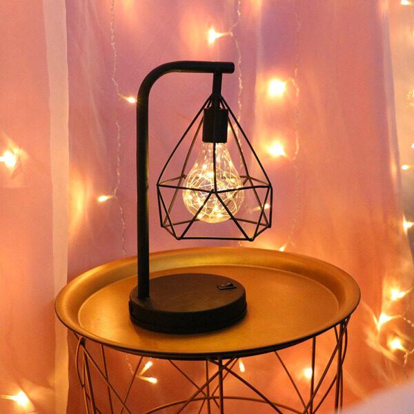 Đèn Bàn Đèn Ngủ LED Sắt Đèn Trang Trí Đầu Giường Kiểu Bắc Âu Cho Phòng Ngủ Phòng Học