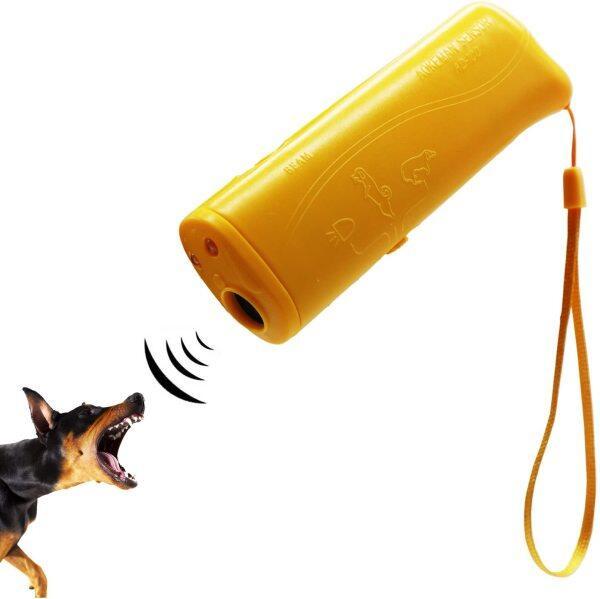 Thiết Bị Huấn Luyện Chó Siêu Âm Thiết Bị Huấn Luyện 3 Trong 1 Chống Sủa Dừng Sủa Điều Khiển Huấn Luyện Viên Đèn Pin LED