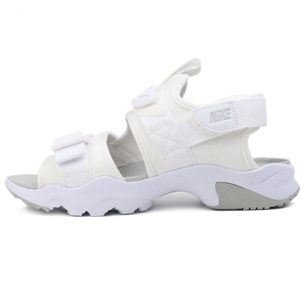 (Giao Hàng Miễn Phí) 2020Nike Mùa Hè Mới Nhẹ Trắng Velcro Nam Và Nữ Giày Đi Biển Đôi Dép CI8797-101 giá rẻ
