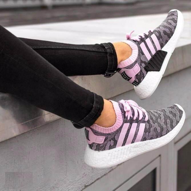 ยี่ห้อนี้ดีไหม  นครศรีธรรมราช รองเท้า Adidas NMD R2 Primeknit  Wonder สีชมพู/Core B