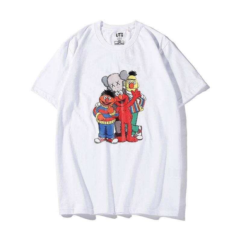 Authentic Spot UT Uniqlo x kaws x Sesame Street Joint T shirt Men and women couple short sleeve