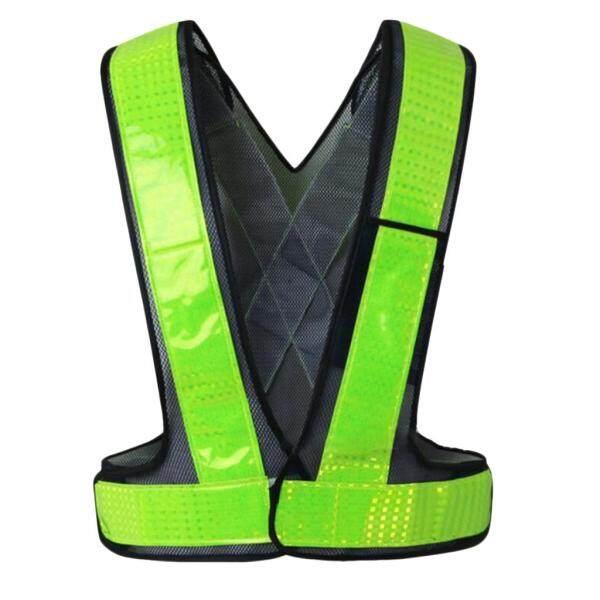 Fityle High Visibility Vest Reflective Safety Vest Work Safety Waistcoat Vest 118cm