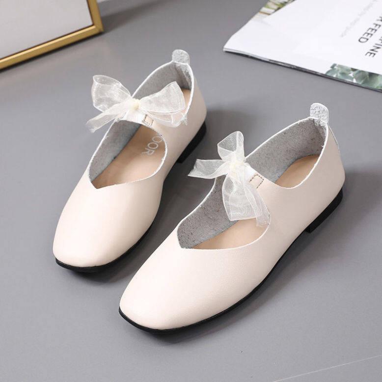 Hàng Sẵn Có 2020 Mới Nữ Duy Nhất/Giày Bệt Nhẹ Hơn Giày Đế Mềm Giày Doug Nữ Sinh Giày Hoạt Động Ngoài Trời Vuông Bà giá rẻ