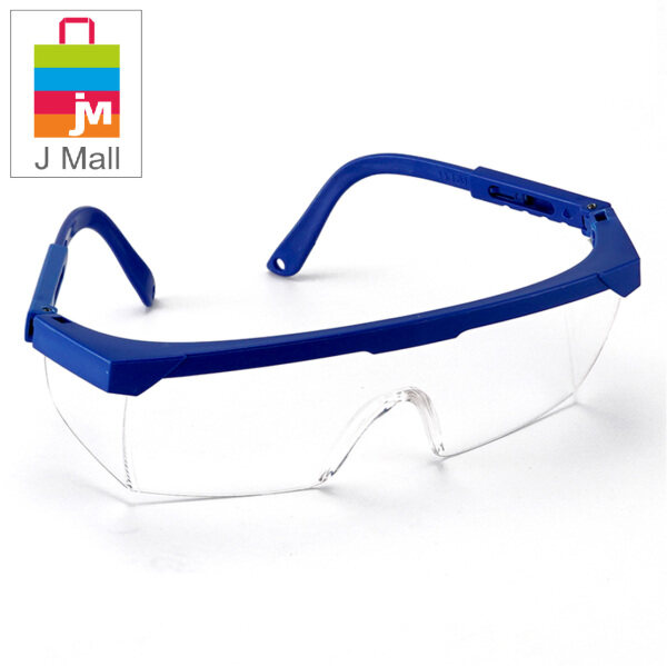 J MALL New Safety Eye Clear Lens Protection PPE Glasses Goggle Spec Blue Clear (388-1) / Black Clear (388-2) / Yellow Clear (388-3)