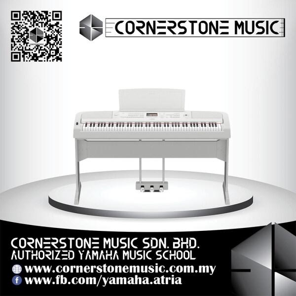 Yamaha Portable Grand Digital Piano DGX-670 Indent Order 2021 June ( DGX 670 / DGX670 ) Graded Hammer Standard-keyboard with matte black keytops - Wh / White Cornerstone Music Malaysia